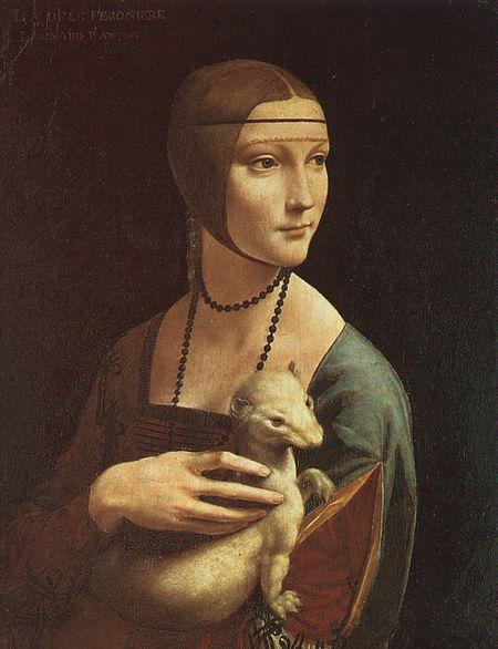 Vinci La Dame à l'hermine (Cecilia Gallerani)