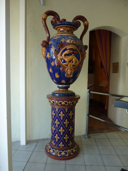 Gien - Vase au dragon