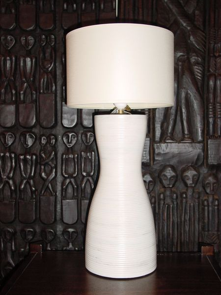 lampe africa blanche