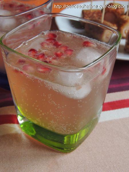 spritz rosé au pamplemousse et grenade