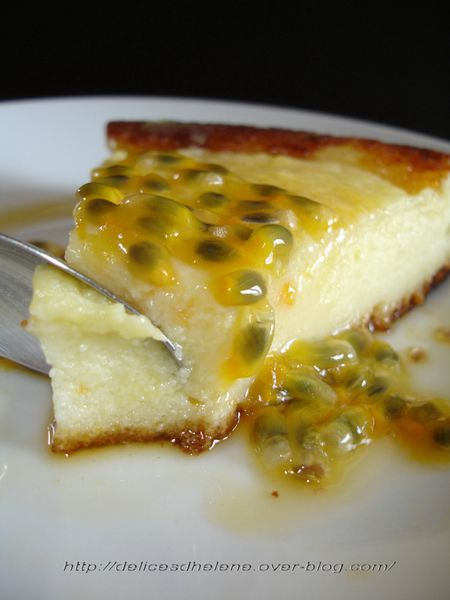 gâteau de fromage blanc à l'orange, sauce passion (32)