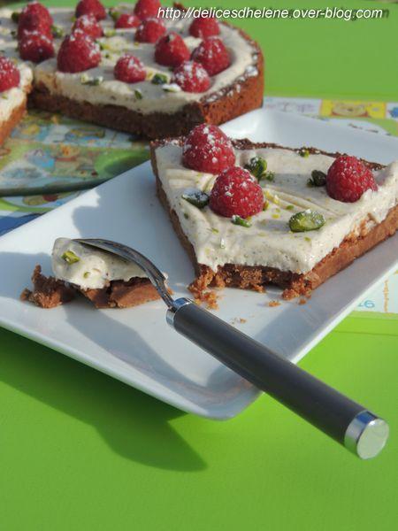 tarte sans tour, mascarpone, framboise, pistache (5)