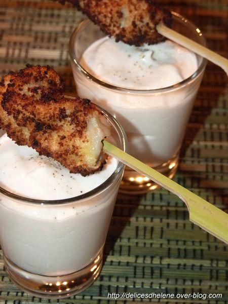 Crème de lard fumé et huître en beignet