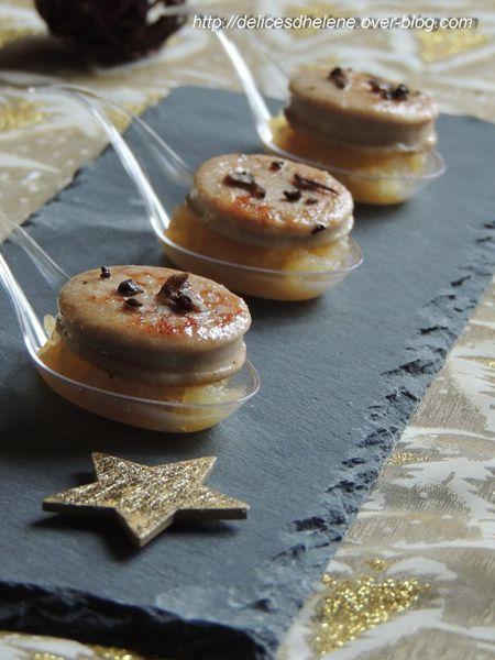 cuillère boudin blanc truffé et compote de pommes (1)