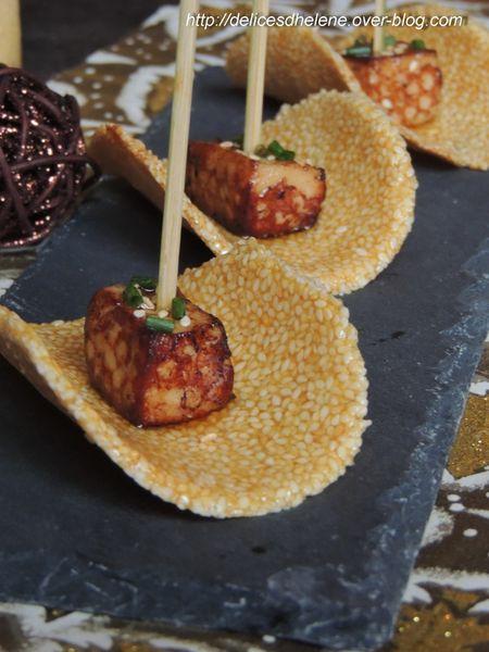 cubes de foie gras poêlé et tuile de nougatine une copie-1