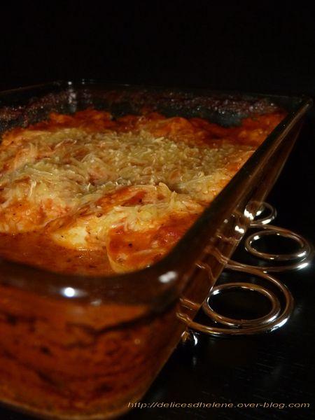 oeufs gratinés à la tomate