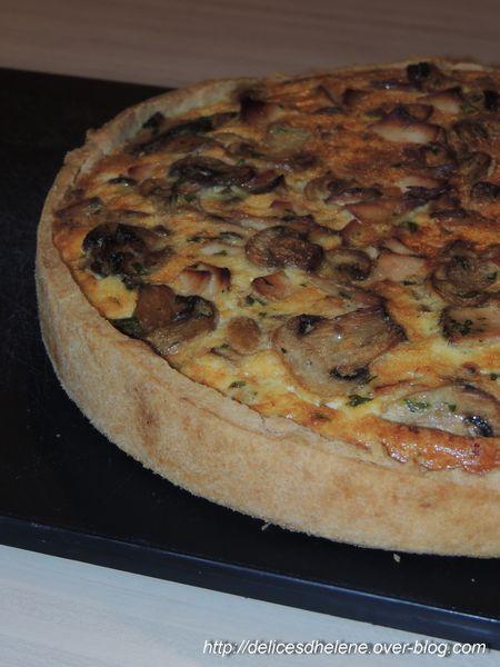 Tarte champignons-poulet (5)
