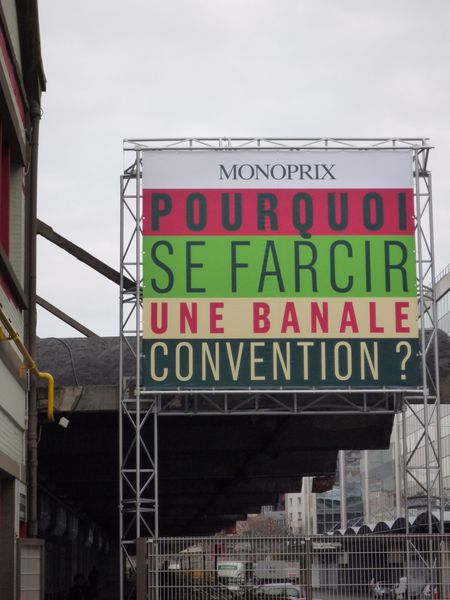 Panneau Monoprix - Convention - Halle Freyssinet