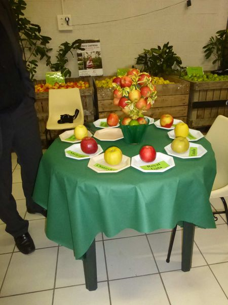 table pommes