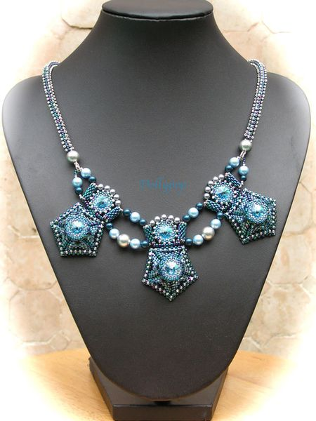 Georgian-Jewel-Necklace blue&silver