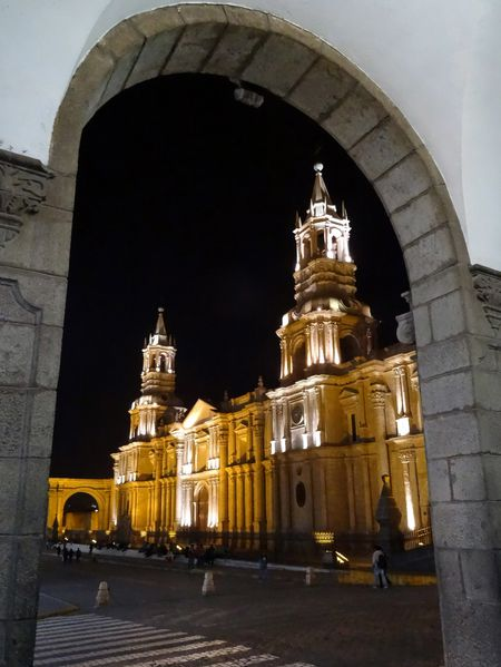 Arequipa cathédrale nuit