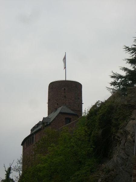 Burg und schlechtes Wetter