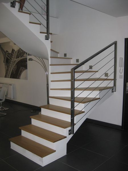 Pin escalier photos blog et fonds d cran on pinterest for Rampe escalier moderne