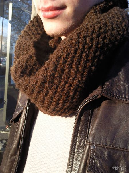 snood point de riz homme 3
