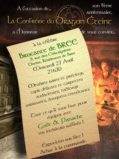 dragon eteint brocante bree