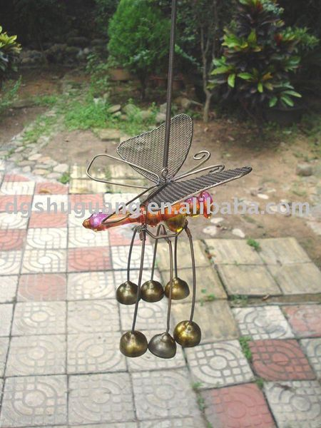 Wind chime Butterfly with Antique Brass B