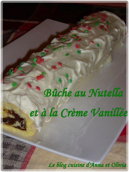bûche nutella vanille