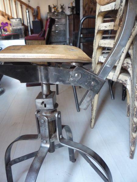 Chaise bienaise atelier industriel loft 1950 mettetal industry design indu - Chaise loft industriel ...