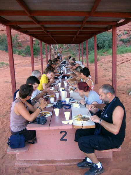Monument Valley repas groupe