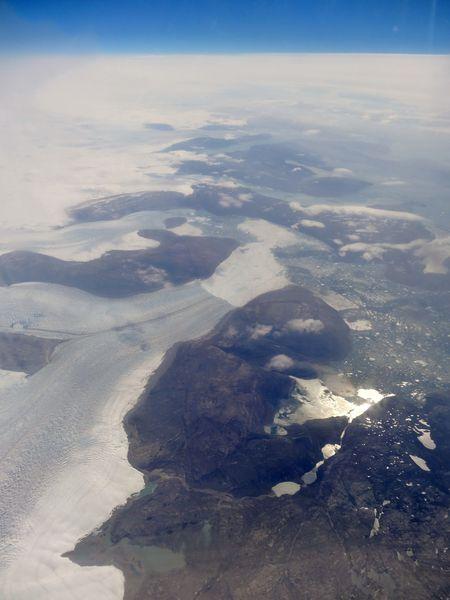 Groenland vu d'avion