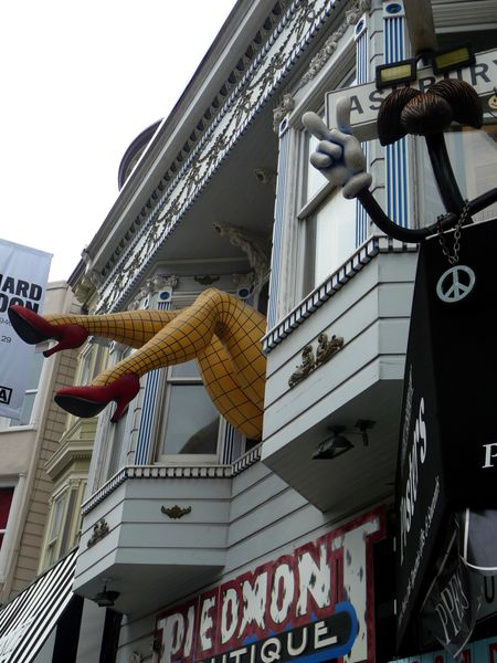 San Francisco Haight Ashbury jambes