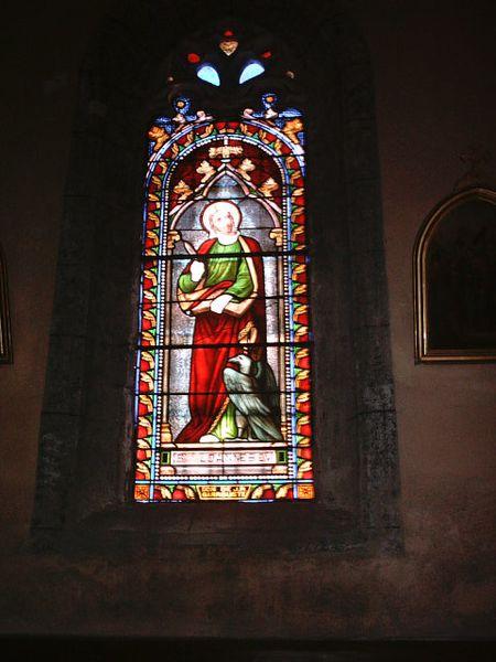 Marcolès, vitrail de l'église