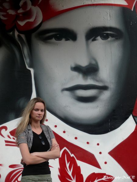 St Pet le 8 juillet 2012 graffiti (102)Brad Pitt by Julia V
