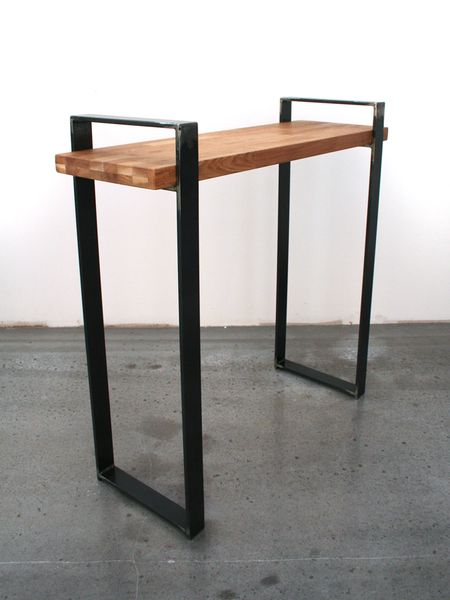 petite console bois et metal. Black Bedroom Furniture Sets. Home Design Ideas