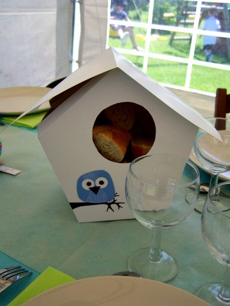 décoration de table hibou #3