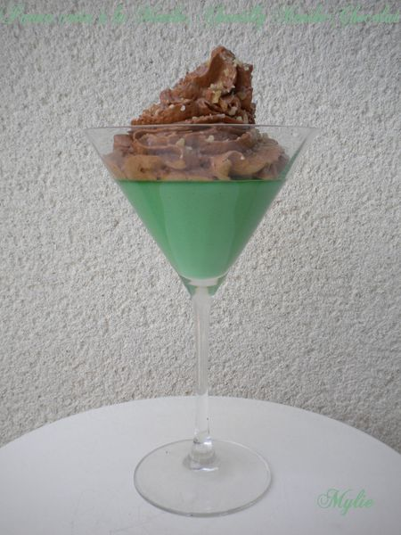 Panna cotta à la menthe, Chantilly Menthe-Chocolat 1