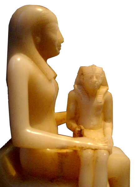 AnkhnesmeryreII-and-Son-PepiII-SideView BrooklynMuseum