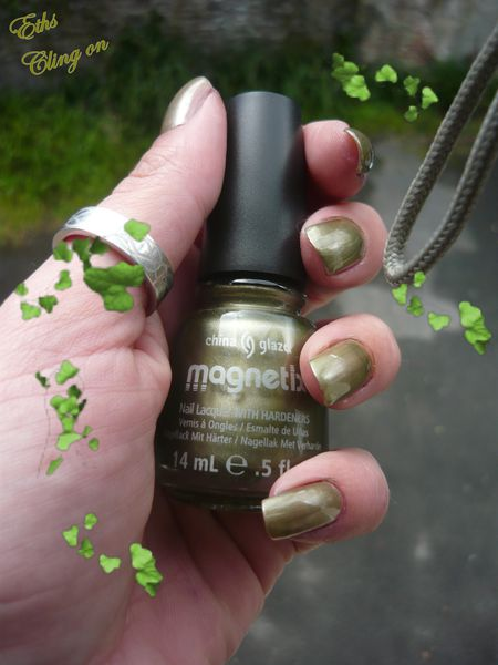 china glaze Cling on 1104 collection Magnetix 2 couches