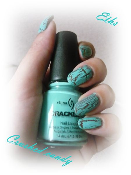 china glaze Crushed candy 981 collection crackle 1 couche