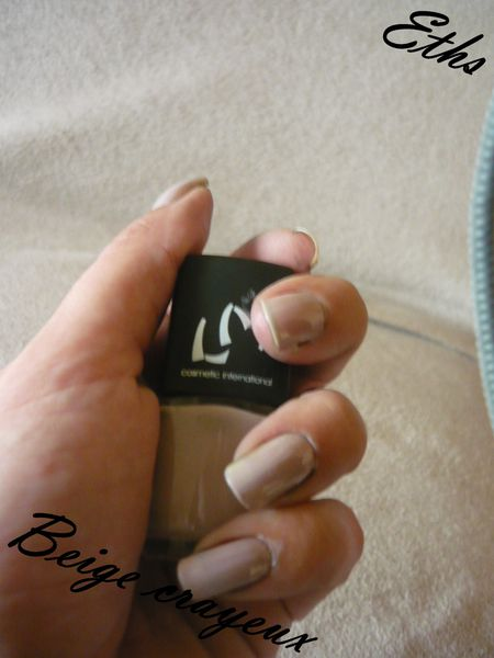 vernis LM cosmetic Beige crayeux collection nude 2 couches