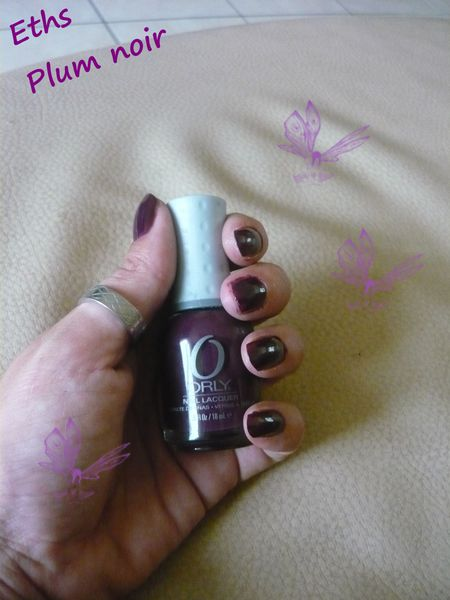 Orly Plum noir 2 couches