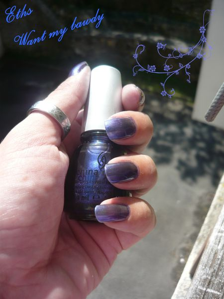 china glaze Want my bawdy 1167 bohemian 2 couche