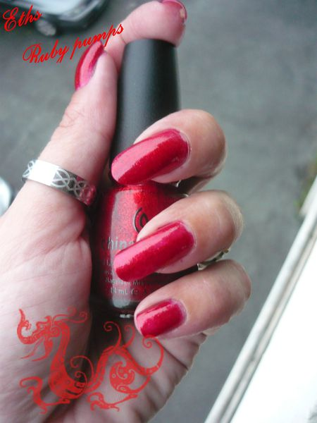 china glaze Ruby pumps 182 collection loves you snow much 2