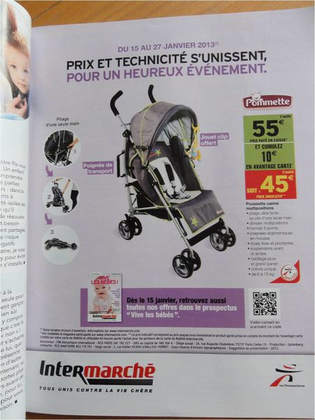 poussette double intermarche