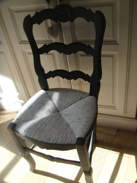 Awesome chaise provencale ancienne contemporary transf - Chaise paille blanche ...