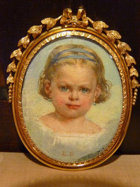 miniature portrait enfant monture en or époque napoléon I