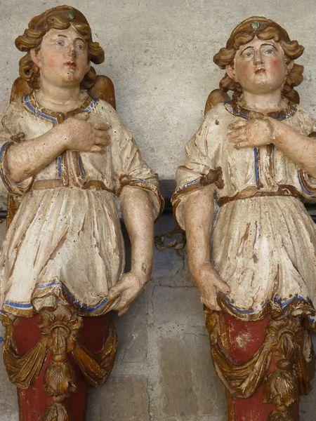 sculptures anges bois doré 18ème siècle antiquaire