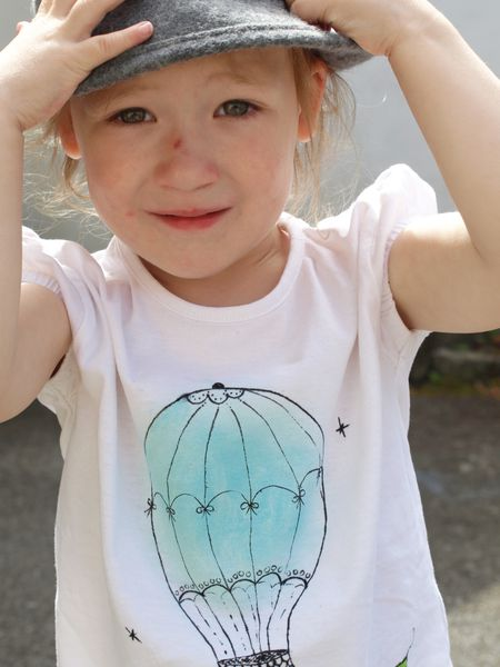 DIY Tee-shirt Mongolfière porté 2