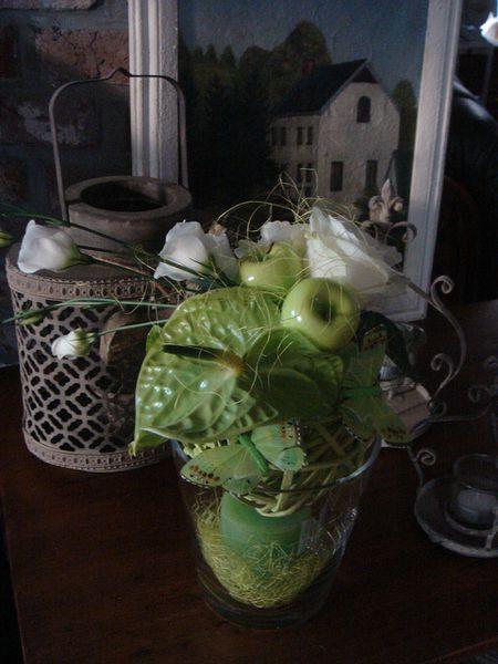création florale sur boule osier (4)