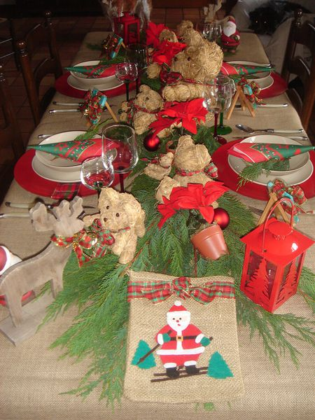 table de noel ours