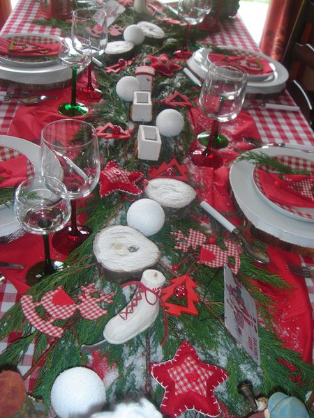 Tables noel 2010 le blog de lestresorsdemathilde - Decoration table de noel rouge et blanc ...