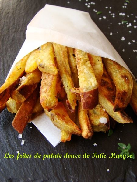 recette de frite de patate douce au four selon tatie maryse. Black Bedroom Furniture Sets. Home Design Ideas