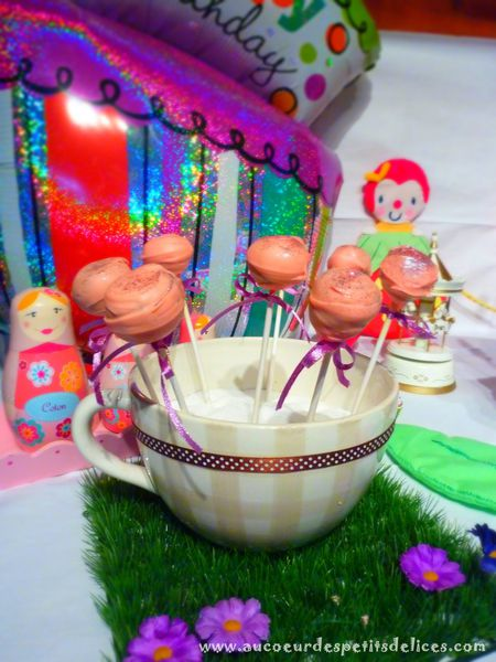 cake pops pistache fruits confits