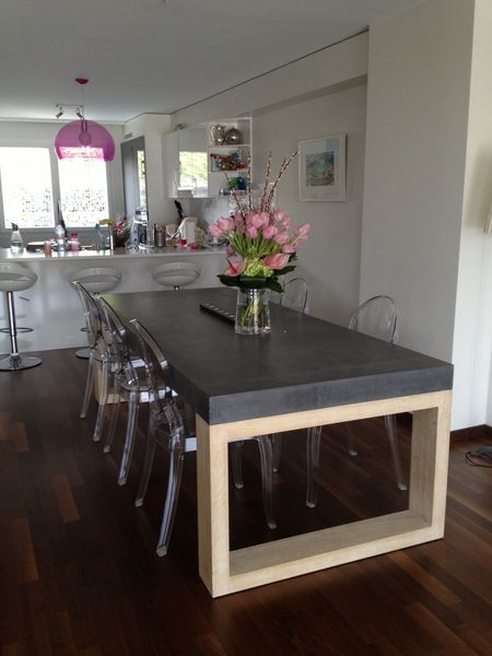 table de salle manger en b ton balian b ton atelier. Black Bedroom Furniture Sets. Home Design Ideas