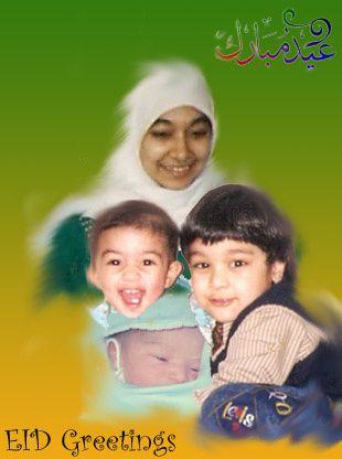 Afia-kids Eid card