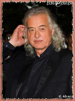 Jimmy Page cheveux blancs longs